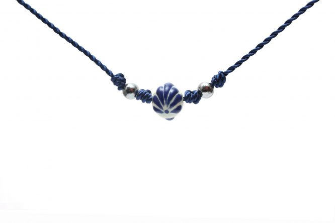 collar azul marino acero inpoxidable Alonso Luis