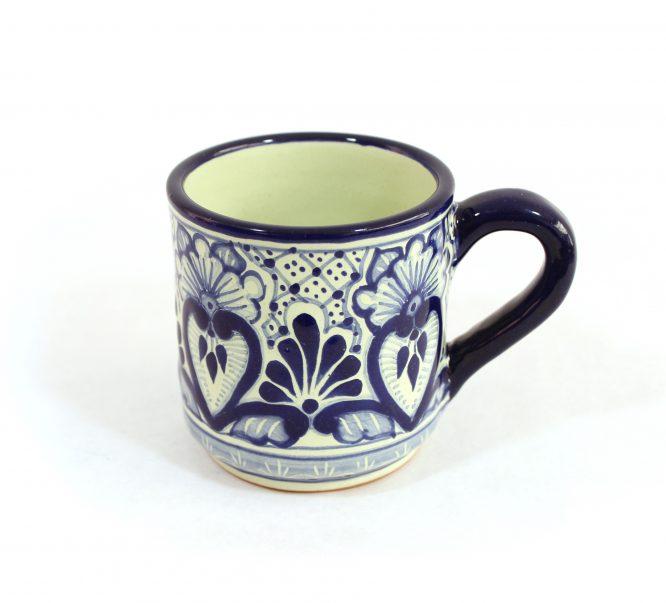 Tarro cafetero cerámica en azul estilo talavera libre de Plomo.