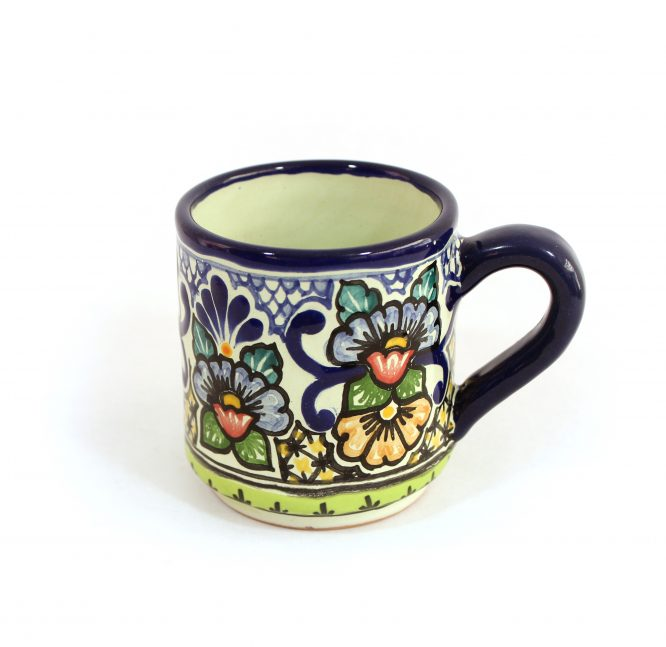 Tarro cafetero cerámica en colores estilo talavera libre de Plomo.