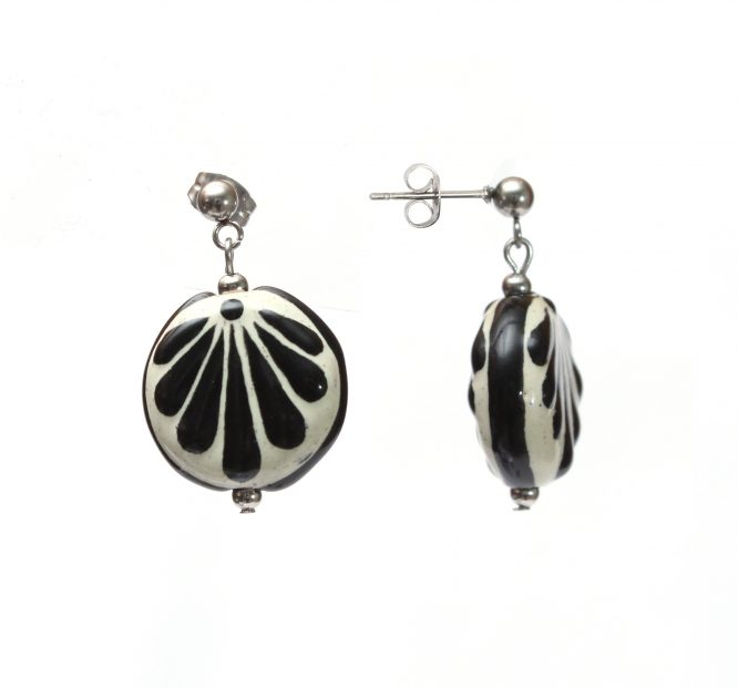 Aretes chico negro acero inoxidable