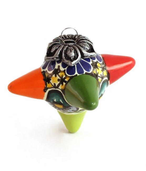 Esfera piñata de cerámica en colores estilo talavera libre de Plomo