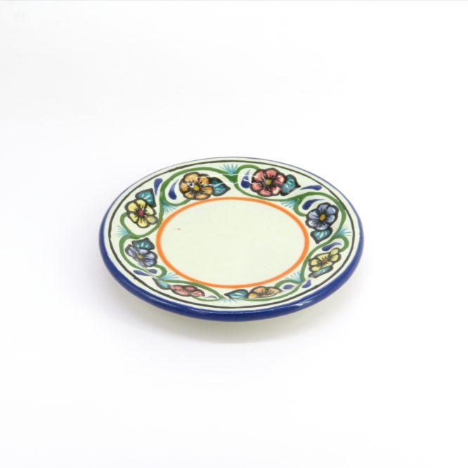 Plato emperatriz de cerámica en colores estilo talavera libre de Plomo