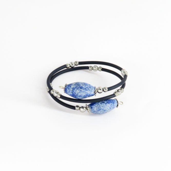 Pulsera espiral azul acero inoxidable